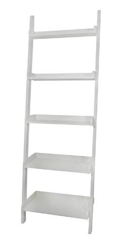 eHomeProducts White 5-Tier Leaning Ladder Book Shelf by eHomeProducts