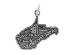 Sterling Silver West Virginia State Charm ()