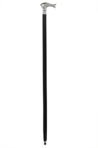 Store Indya GiftsFish Head Walking stick Made From indian rosewood with brass chromed