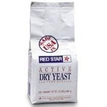 Red Star Nutritional Active High Volume Dry Yeast, 2 Pound - 6 per case by Red Star Yeast