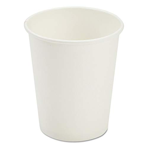 Paper Dopaco White - Pactiv D8HCW Dopaco Paper Hot Cups, 8 Oz, White, 50/bag, 20 Bags/carton
