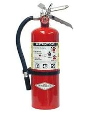 Amerex 5 Pound Stored Pressure ABC Dry Chemical 2A:10B:C Multi-Purpose Fire Extinguisher For Class A, B And C Fires With Anodized Aluminum Valve, Wall Bracket, Hose And Nozzle