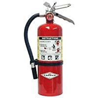 Amerex 5 Pound Stored Pressure ABC Dry Chemical 2A:10B:C Multi-Purpose Fire Extinguisher For Class A, B And C Fires With…