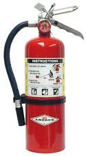 Amerex® 5 Pound Stored Pressure ABC Dry Chemical 2A:10B:C Multi-Purpose Fire Extinguisher For Class A, B And C Fires With Anodized Aluminum Valve, Wall Bracket, Hose And Nozzle