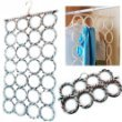 Scarf hanger multi display for tie belt holder 28 Circle Storage