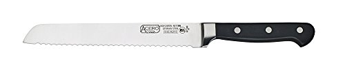 Winco Acero cutlery 1 Fully forged-X50 Cr Mo V15 German Steel-offers exceptional durability Unique POM injection molded handle which help to achieve a balanced weight distribution 6-spot advanced polishing for a more comfortable grip