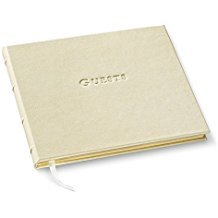 Gallery Leather Guest Book Freeport Ivory