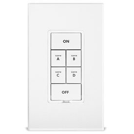 Insteon 2487S On/Off 4-Scene Keypad, 1800 Watt (White) - Insteon Hub with Alexa & Google Assistant