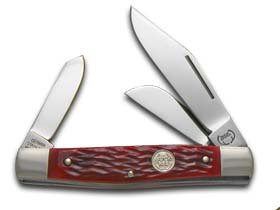 - Buck Creek Red Pickbone Diamondback Stockman Pocket Knife Knives