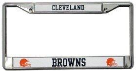 Cleveland Browns Chrome License Plate Frame (Black Lettering)