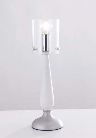Diseño Lámpara de mesa en transparente blanco e14 hasta 40 W ...