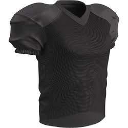 CHAMPRO Stretch Polyester Practice Football Jersey, Black, 3X-Large ()