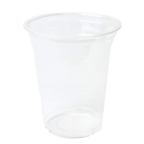 Blue Planet Ware 12oz Compostable Cold Cups 100 ct - Clear Party Cups, Biodegradable Cups