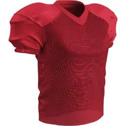 (CHAMPRO Adult Stretch Polyester Practice Football Jersey, Scarlet, X-Large)