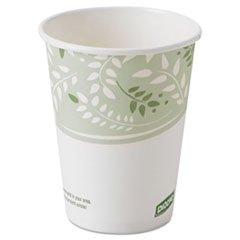 Dixie EcoSmart Hot Cups, Paper w/PLA Lining, Viridian, 8oz, 1000/Carton