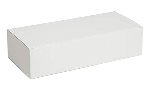 """Darice Victoria Lynn Cardboard Cake Box - White - Perfect for Packing Wedding Cake Slices, Cookies, Candy Favors and More To Take Home - Can Be Decorated - Easy To Assemble, 5 ½""""x1 ¾"""", 20 Boxes"""