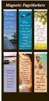 Beautiful Magnetic Bookmarks with Scripture and Words of Inspiration – Set of 6 (Nature)