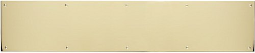 BRASS Accents A09-P0628-628ADH 28 x 6'' Adhesive Mount Kick Plate, Polished Brass/Aluminum Finish by BRASS Accents (Image #1)