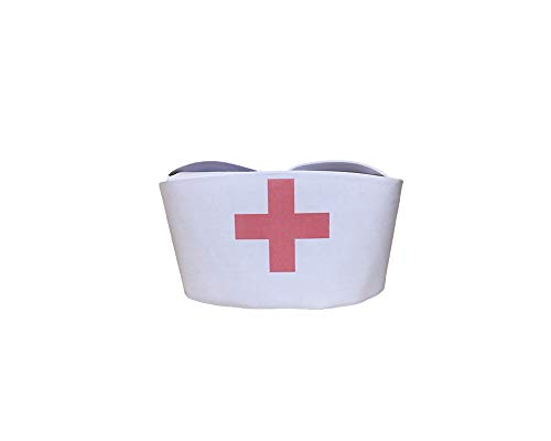 DOUEER Nurse Joy Cap Women Sexy Cosplay Costume Accessories (red Cross)