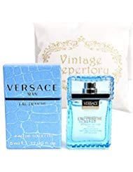 Original Versace Man Eau Fraiche Eau De Toiltte EDT 5ml 0.17oz Cologne for Men Homme Perfume Miniature Mini Parfum Collectible Bottle New In Box ()