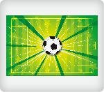 Soccer Field Edible Icing Image (6 inch Round) by Whimsical Practicality
