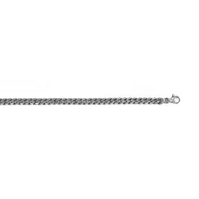 Blanc massif 14 carats 5,5 mm-Link Bracelet Gourmette-JewelryWeb 7,5 cm