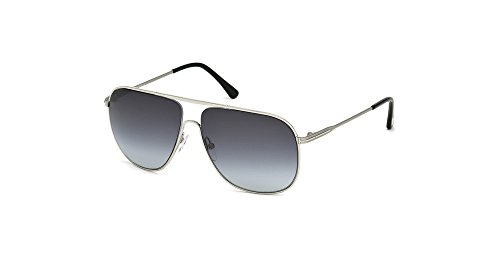 TOM FORD Men's TF451 Dominic 16W Palladium Blue Gradient Aviator Sunglasses - Sunglasses Mens Tom Ford Aviator