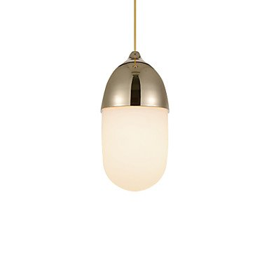 XUEXIN Mini Acorn chandelier/1 light/simple/modern/Golden/chrome/wood color plated carbon steel and glass , golden