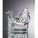 Home Essentials & Beyond 9454 30 oz. Paneled Ice Bucket with Tongs