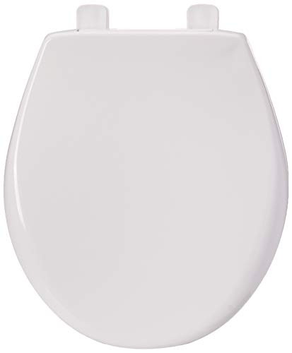 BEMIS 790TDGSL 000 Heavy Duty Closed Front Toilet Seat with Cover will Slow Close, Never Loosen and Provide the Perfect Fit, ROUND, Plastic, White (Ceramic Toilet Seat Cover)