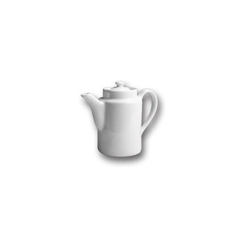 Hall China 51 1/2-WH White 12 Oz. Coffee Pot with Knob Cover - 12 / CS by Hall China
