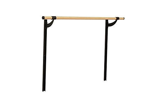 Vita Vibe Ballet Barre - WS48-A-W Traditional Wood 4ft. Single Adjustable Height Wall Mount Ballet Bar - Stretch/Dance Bar - Vita Vibe - USA Made