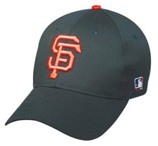 MLB YOUTH San Francisco GIANTS Home Black Hat Cap Adjustable Velcro TWILL