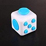 Etbotu Fidget Cube Toy-Relieve Stress, Anxiety and Boredom for Children and Adults White&Blue