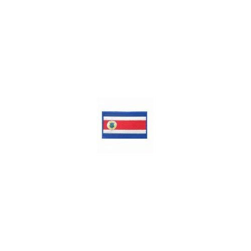 COSTA RICA COUNTRY FLAG IRON-ON PATCH CREST BADGE 1.5 X 2.5