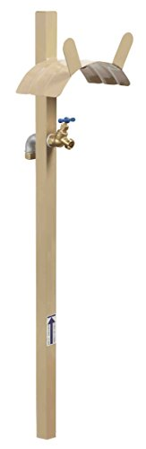 Liberty Garden 693-2 Free Standing Garden Hose Stand With Brass Faucet, Holds 150-Feet of 5/8-Inch Hose - Tan