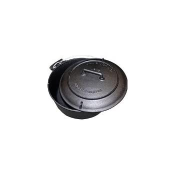 Volcano Grills Cast Iron Vintage Style Dutch Oven for Camping