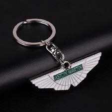 Aston Martin - Llavero con alas de Cromo, Color Verde y ...