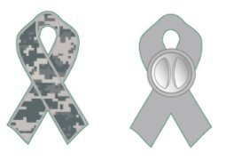 (CustomPins Salute to Service Camo Camouflage Ribbon Lapel PIN Military Awareness & Support (Size= 1.25