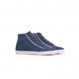 Bikkembergs BKE107788 Words 353 Man Shoe Suede Canvas Blue