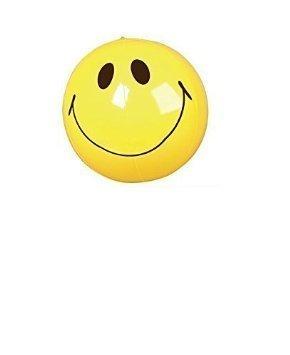 Inflate Face Ball ((12) Smiley Face Inflatable Beach Balls ~ One Dozen 16'' Fun Beach Balls Inflates ~ Pool Water Beach Party Birthday Favors ~ Prize BBQ Picnic ~ Tropical Luau Children Outdoor Backyard Fun ~ One Dozen New)
