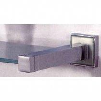 (Valsan 67462ES Cubis Glass Shelf 21 Inch in Satin Nickel)