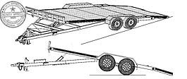 18HT Trailer Plan - 19'x82 Hydraulic Car Carrier 10.4k Trailer DIY How-to Blueprint by Master Plans & Design