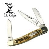 - Elk Ridge - Outdoors Manual Folding Knife - Gentleman's Knife - Stockman Knife - 3.5-in Closed, 2.75-in Stainless Steel Blades, Faux Stag Handle - EDC - ER-323I