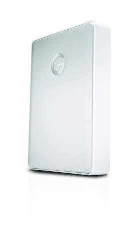G-Technology 4TB G-DRIVE Mobile USB-C (USB 3.1 Gen 1) Portable External Hard Drive, Silver- 0G10348 by G-Technology (Image #1)