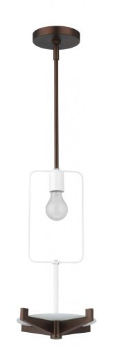 - Fisher Island One Light Pendant Finish / Bulb Type: Merlot Bronze / Fluorescent