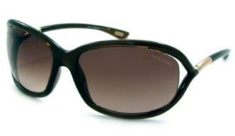 Price comparison product image Tom Ford Jennifer FT0008 Sunglasses-692 Dark Brown (Gradient Brown Lens)-61mm