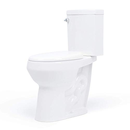 20 inch Extra Tall Toilet made by Convenient Height Co. Bowl taller than ADA Comfort Height. Dual flush, Slow-close seat, New handle