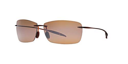 Maui Jim Sunglasses - (Maui Ji Lighthouse Polarized Rimless Sunglasses, Rootbeer, 65 mm