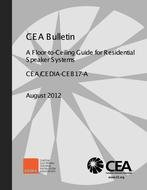 CTA CEDIA-CEB17-A A Floor-to-Ceiling Guide for Residential Speaker Systems (Formerly CEA)